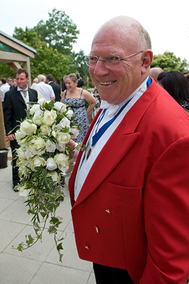 Toastmaster Ted Prior at wedding